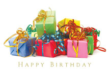 Colorful Gifts Happy Birthday Cards
